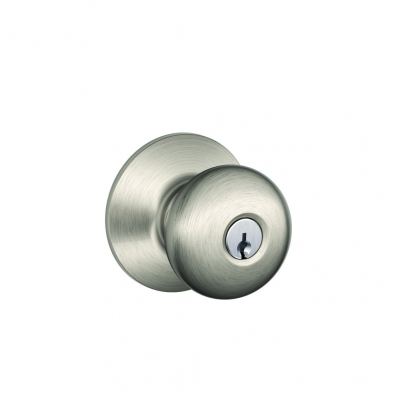 SC/F51A-PLY-619 Schlage F51A-PLY-619 Entry Lock, Plymouth Knob, Satin Nickel
