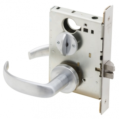 Schlage L9044-17A-626 Privacy Mortise Lock with Coin Turn