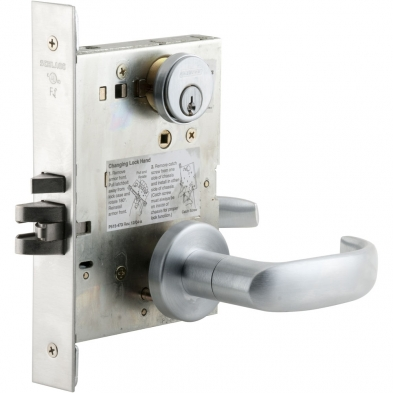 Schlage L9080P-17A-630 Storeroom Mortise Lock
