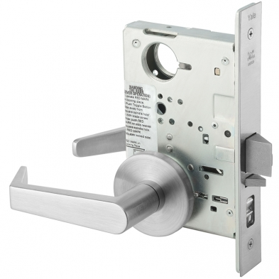 Yale AUR8807FL-626-LC Mortise Office Entry Lock