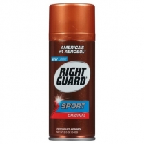 MC6001 Right Guard Sport Deodorant 12/Cse (Brown Can)