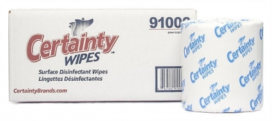 MC7091 CERTAINTY DISINFECTANT WIPES - 2 rls/cs 1000/roll