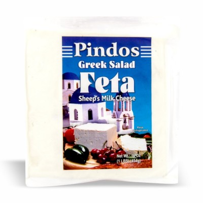 "10-137-2 PINDOS FETA ""SHEEP'S MILK""  VAC 12/16 OZ"