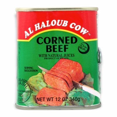 13-120-1 HALLOUB CORNED BEEF         24/12 OZ