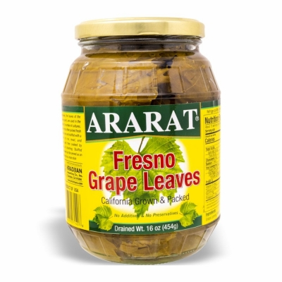 27-140-1 ARARAT FRESNO GRAPE LEAVES 12/16 OZ