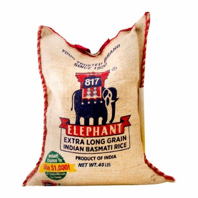 33-129-1 817 ELEPHANT EX LONG BASMATI RICE 40 LB