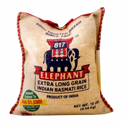 33-131-1 817 ELEPHANT EX LONG BASMATI RICE 10 LB