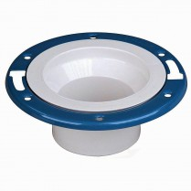 "MD-150 4"" PVC PVC Closet Floor Flange w/Metal Ring"