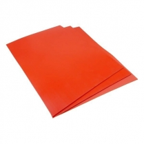 "OG-099 12"" x 12"" Red Rubber Square, 12/Pkg"