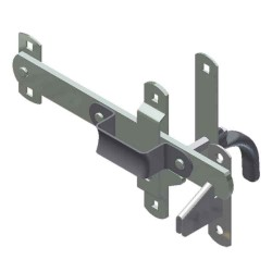 Large Swing Door Latch, -Zinc Plated