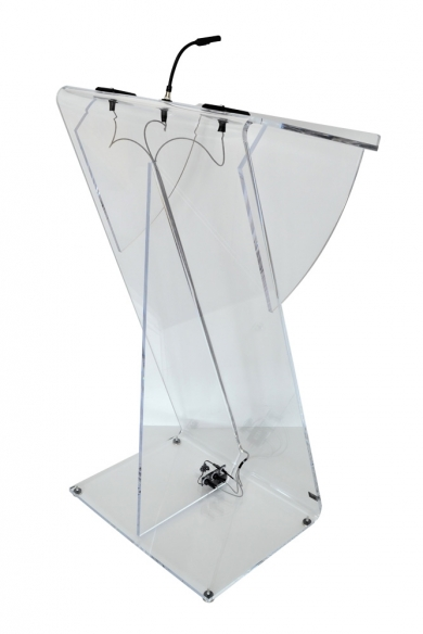 Z Shape Lectern with AV Connections