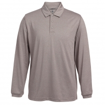 7493 - Men's Heather Long Sleeve Polo