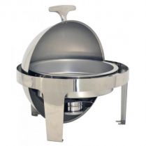 0073-80527 Deluxe Round Roll Top Chafer 6 qt