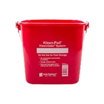 0111-KP196/RD KLEEN PAIL 5.68 LITRE RED