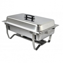 0222-84031 Economy Small Deluxe Chafer w/pan 8 qt Stainless Steel