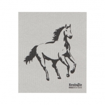 0436-2000079 PRETTY HORSES SWEDISH DISHCLOTH