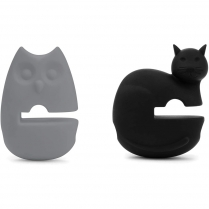 0444-48773 CAT & OWL POT CLIPS