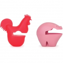 0444-48774 PIG & ROOSTER POT CLIPS