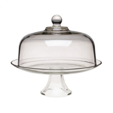 0444-77833 ANCHOR GLASS CAKE PLATE W/DOME