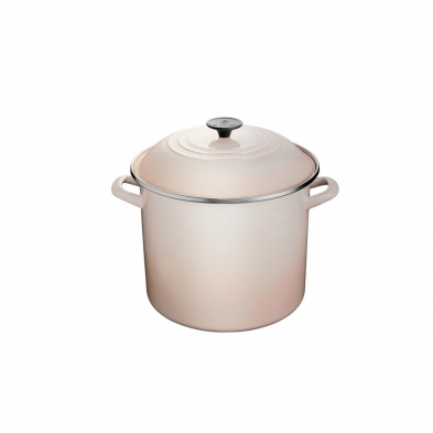 0589-N4100/26/9N LE CREUSET 14.8L STOCK POT MERINGUE