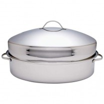 0719-TB8052 STAINLESS OVAL ROASTER WITH LID