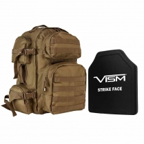 "Tactical Backpack w/10""x12"" Level III+ Shooter's Cut PE Hard Ballistic Plate"