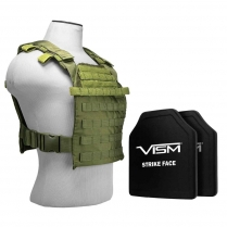 Fast Plate Carrier w/Level III+ PE Shooter's Cut Hard Balllistic Plates