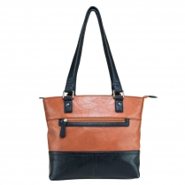 BWA002 Tote Bag - Brown w/Black Trim