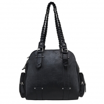 BWB001 Braided Shoulder Bag - Black