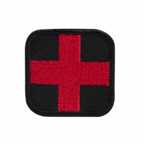 CVPAID Velcro First Aid Patch Blk/Red