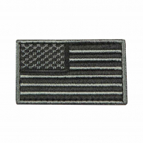 CVUSAE3028B USA Flag Patch Embroid Black