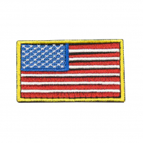 CVUSAE3028R USA Flag Patch Embroid RdWtBl