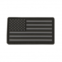 CVUSAP3029B USA Flag Patch PVC Black