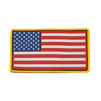 CVUSAP3029R USA Flag Patch PVC RdWtBl