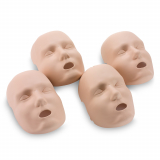 10-196 Prestan® Adult Replacement Face Skin - Medium Skin - 4 Pack
