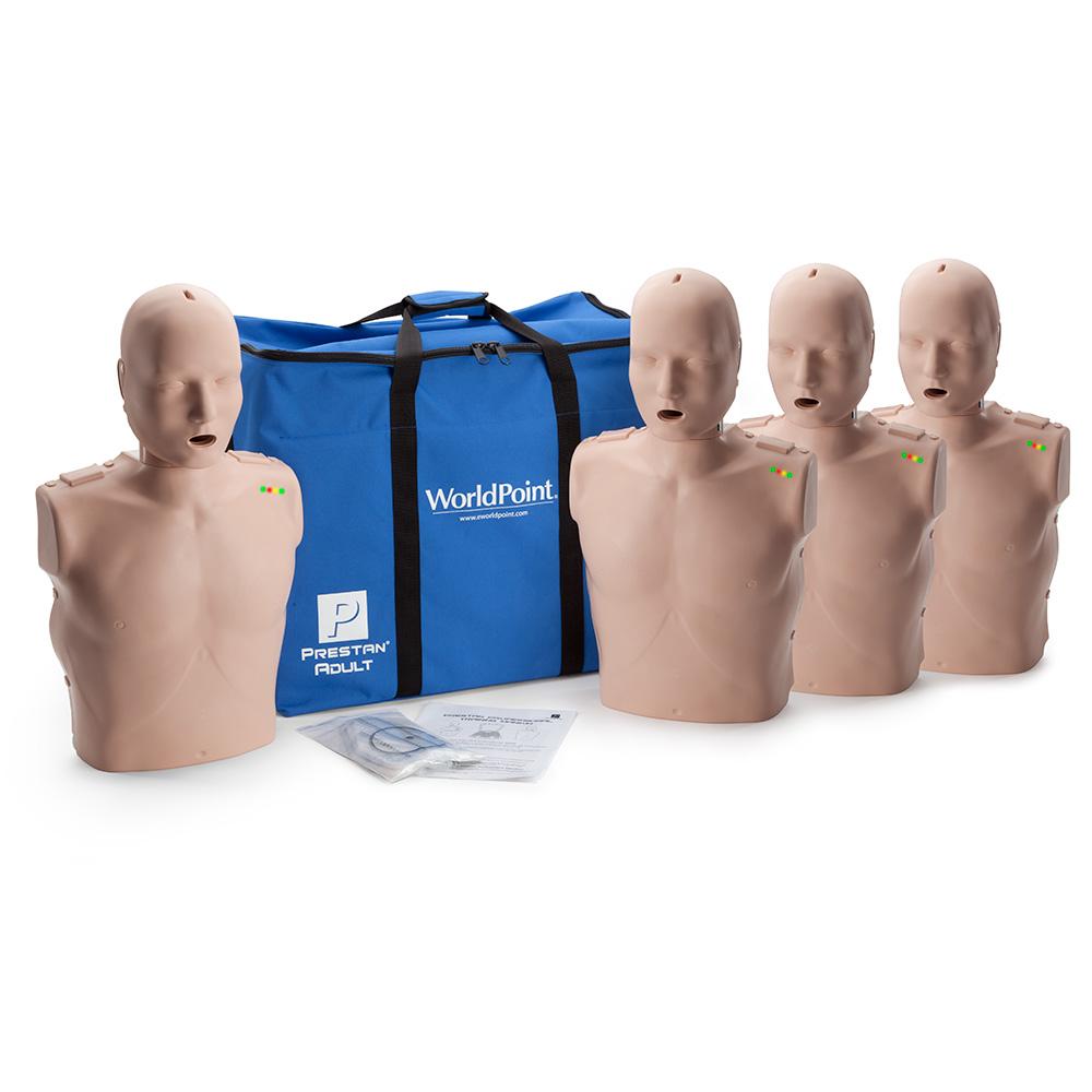 Medium Skin CPR Savers Prestan Professional Adult CPR Training Manikin with 2019 AHA Feedback Monitor PP-AM-100M-MS