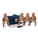 10-451 Prestan® Infant Manikin with CPR Monitor - Dark Skin - 4 Pack