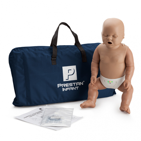 10-455 Prestan® Infant Manikin with CPR Monitor - Dark Skin