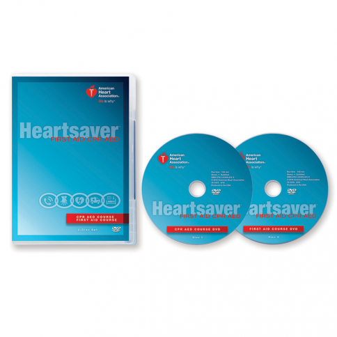 15-1019 AHA Heartsaver® First Aid CPR AED DVD Set