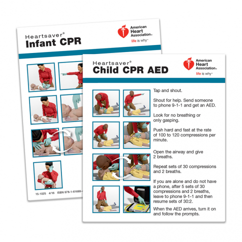 15-1025 HS Ch/Inf CPR Card 100pk