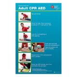 15-1026 AHA Heartsaver® Adult CPR AED Poster - 3 Pack