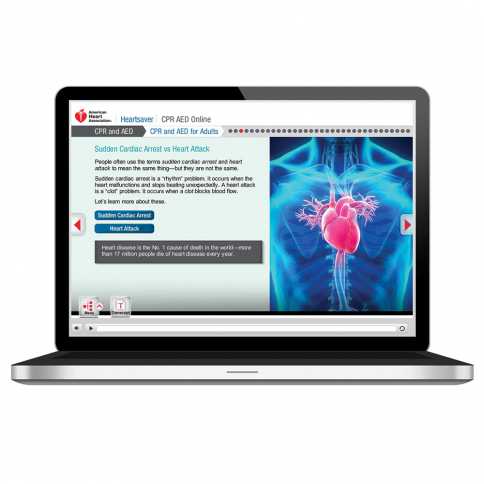 15-1401 AHA Heartsaver® CPR AED Online