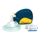 20-108 Laerdal® Pocket Mask with Gloves & Wipe in Soft Case - Blue