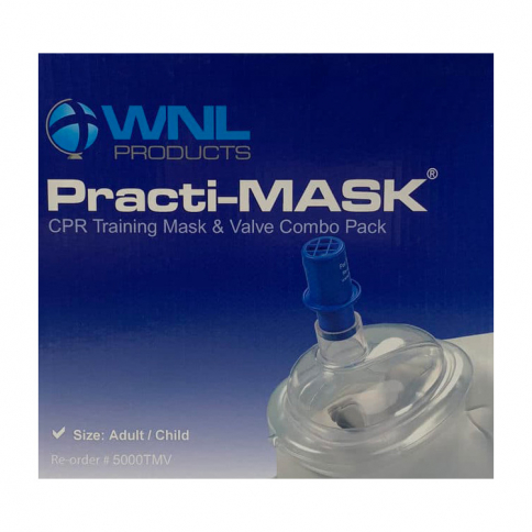 20-138 WorldPoint® Child/Adult Practi-Mask® with Training Valve - 10 Pack