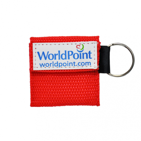 20-168 WorldPoint® CPR Keychain - Red