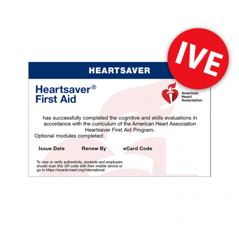 20-2832 2020 AHA International Heartsaver® First Aid eCard