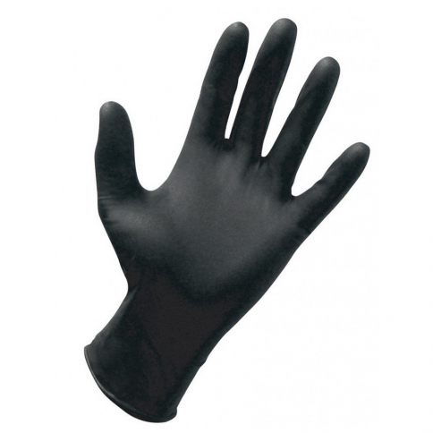 40-143 Dynarex® Nitrile Exam Gloves Powder Free - Black - Large