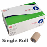 40-164 Dynarex® Sensi-Wrap Self-Adherent Bandage Roll, 3 in x 5 yd - Tan