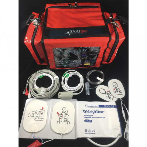 50-447 D.A.R.T. Sim ACLS/PALS Bag Complete - Red