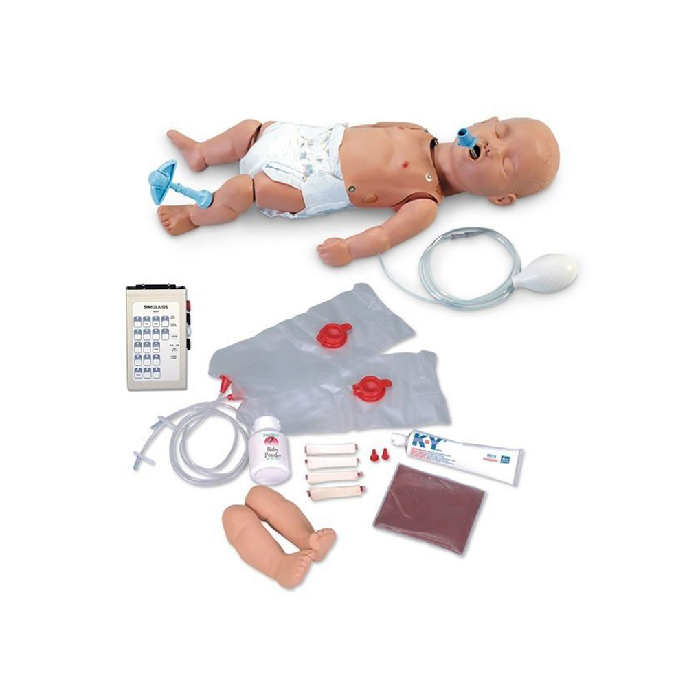 Simulaids Pediatric ALS Trainer with Interactive ECG Simulator and Carry Bag
